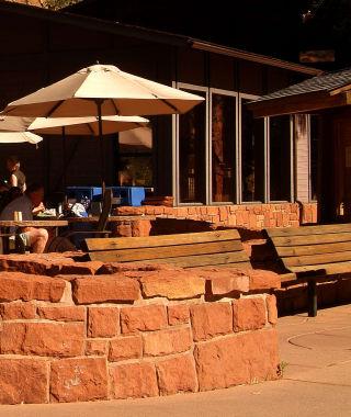 Castle Dome cafe patio
