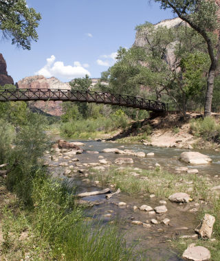 Bridge in Zion National Park