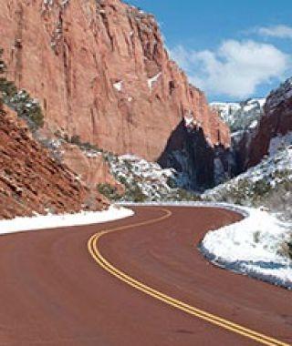 Zion Kolob Canyons Road