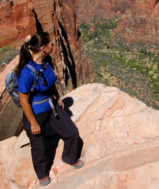 Female Hiker Angels Landing - Zion National Park
